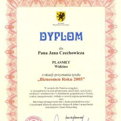 Businessman of a year 2005 - Pomeranian voivodship Marshal