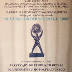 Product of the Year 2008 in Slupsk