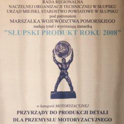 Das beste Produkt der Stadt Slupsk im Jahr 2008